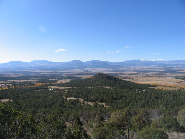 looking west over the Huerfano Valley