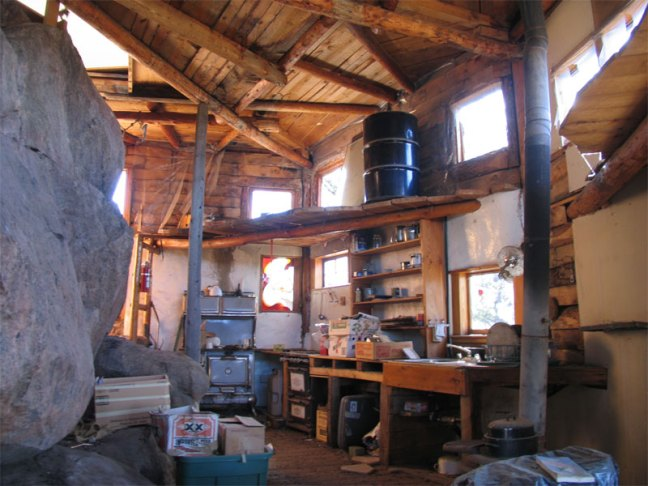 inside the rock house (currentky unoccupied)